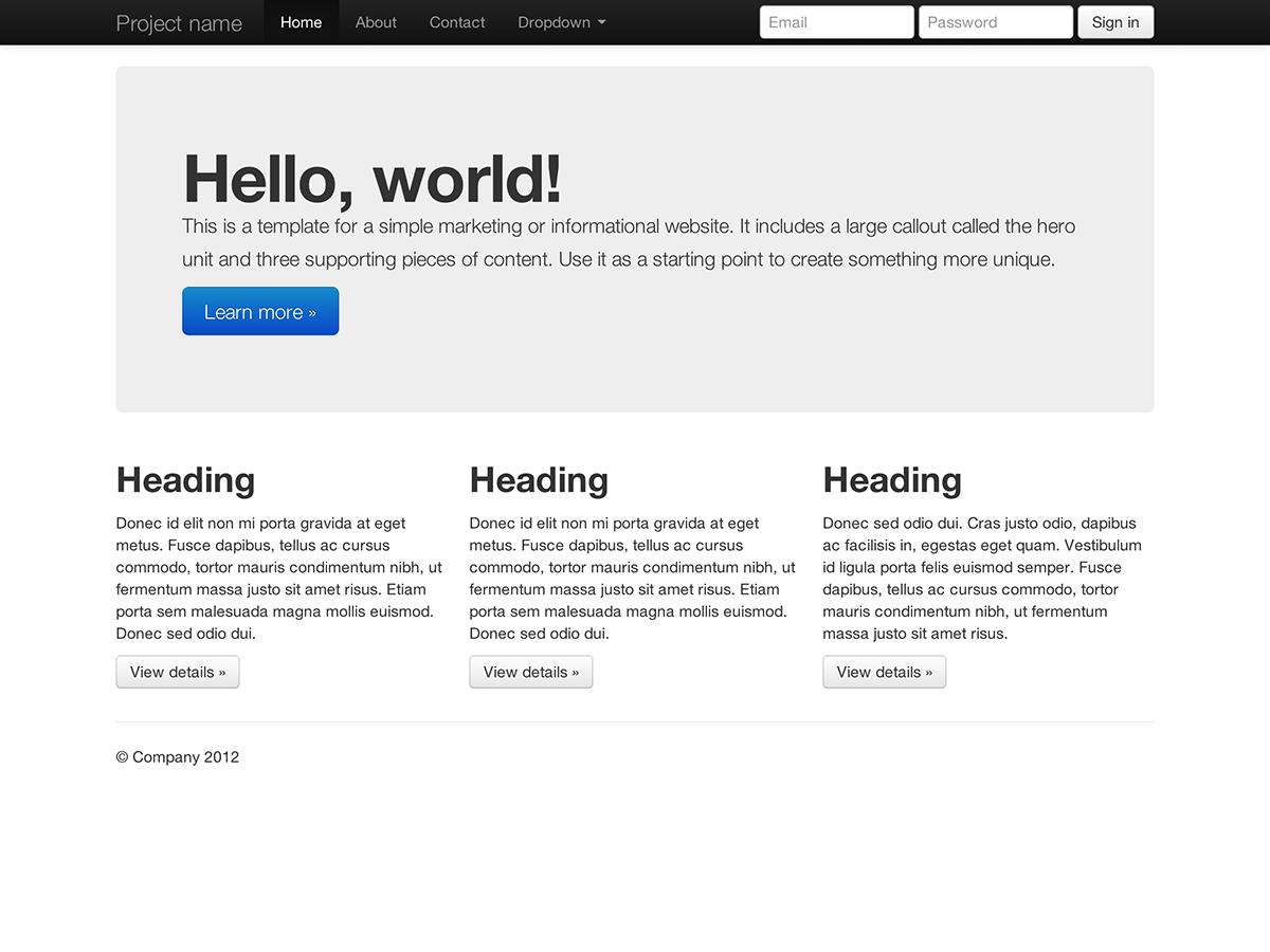 Bootstrap documentation bootstrap basic marketing site falaconquin